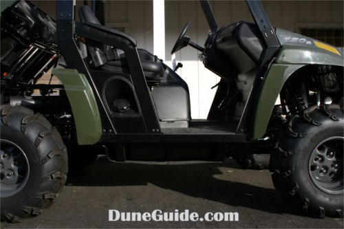 Seats sit high in the Prowler which raise the center of gravity