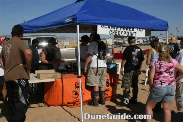 Glamis Poker Run - Sand Diego Off-Road Coalition checkpoint