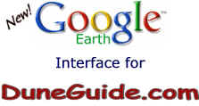 Google Earth Interface by DuneGuide.com