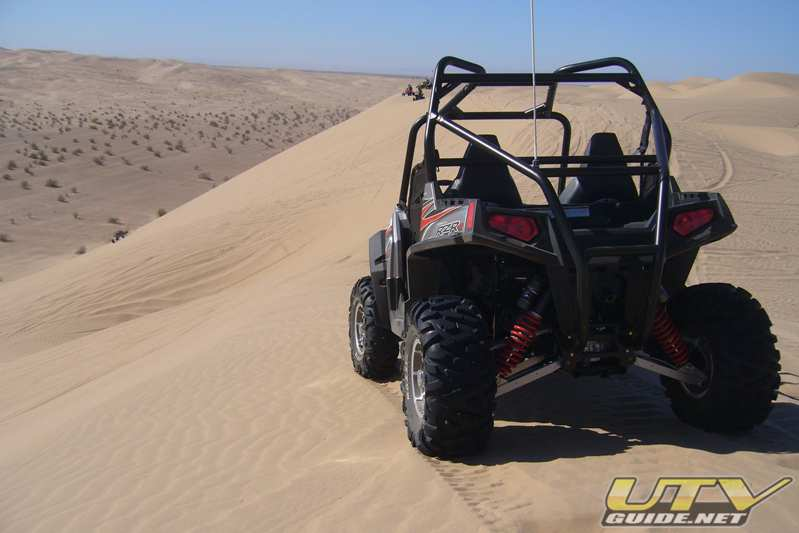 Polaris RZR S at the top of Patton Valley
